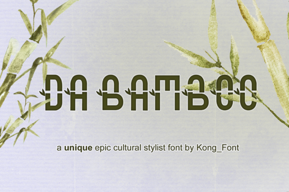 Print on Demand: Da Bamboo Display Font By fontkong