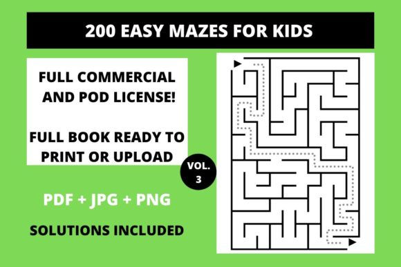 Download Free 200 Easy Mazes For Kids Vol 3 Graphic By Fleur De Tango for Cricut Explore, Silhouette and other cutting machines.