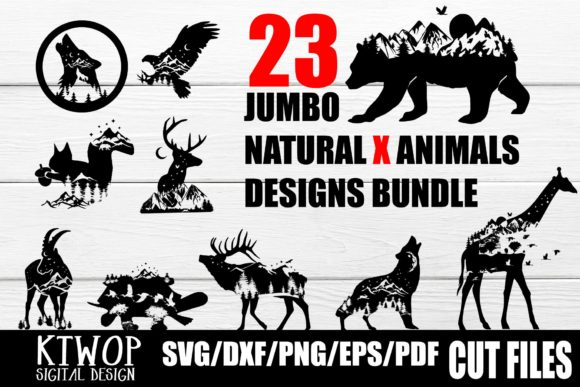 Download Free Nature X Animal Series Bundle 21 Files Graphic By Ktwop for Cricut Explore, Silhouette and other cutting machines.