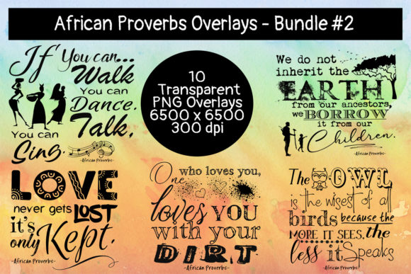 Download Free African Proverbs Overlay Bundle 2 Graphic By Words Count for Cricut Explore, Silhouette and other cutting machines.