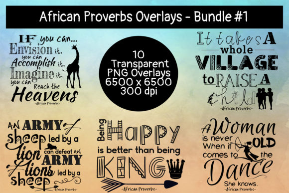 Download Free African Proverbs Overlays Bundle 1 Graphic By Words Count SVG Cut Files