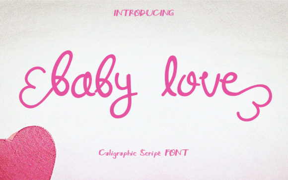 Download Free Baby Love Font By Graph Arts Creative Fabrica for Cricut Explore, Silhouette and other cutting machines.