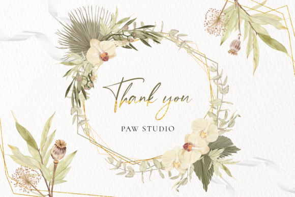 Print on Demand: Boho Tropical Floral Graphic - Home Decor Graphic Illustrations By PawStudio - Image 10