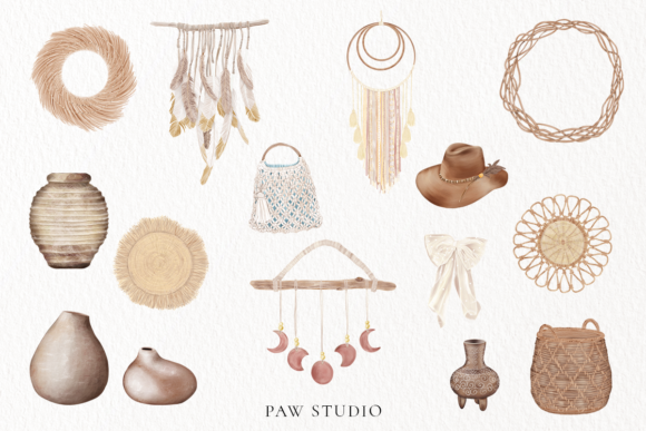 Print on Demand: Boho Tropical Floral Graphic - Home Decor Graphic Illustrations By PawStudio - Image 4