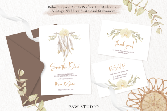 Print on Demand: Boho Tropical Floral Graphic - Home Decor Graphic Illustrations By PawStudio - Image 6