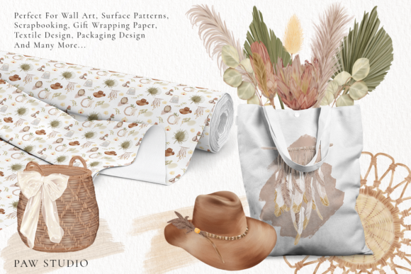 Print on Demand: Boho Tropical Floral Graphic - Home Decor Graphic Illustrations By PawStudio - Image 9