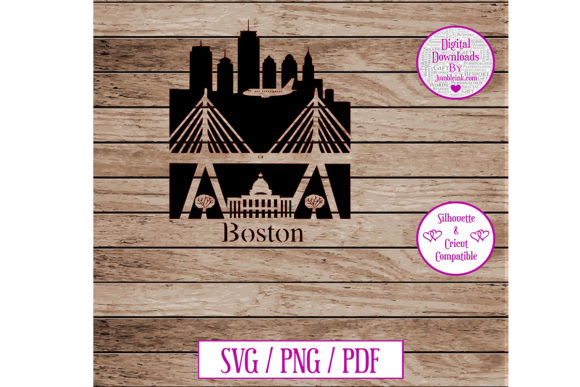 Download Free Boston City Decal Graphic By Jumbleink Digital Downloads for Cricut Explore, Silhouette and other cutting machines.