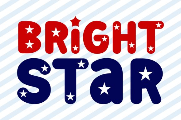 Print on Demand: Bright Star Display Font By Jasm (7NTypes) - Image 1