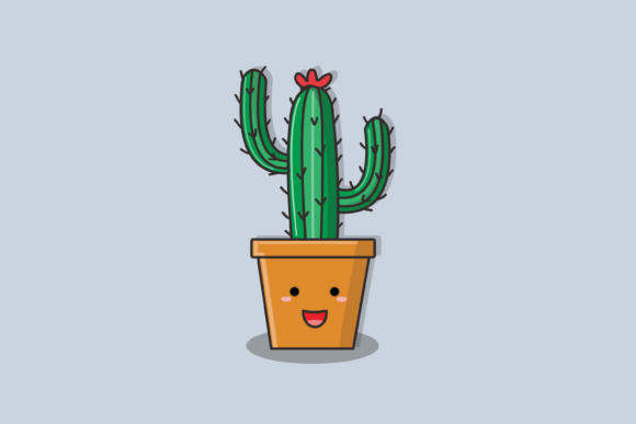 Download Free Cactus Vector Illustration Graphic By Nuraisyahamalia1729 for Cricut Explore, Silhouette and other cutting machines.