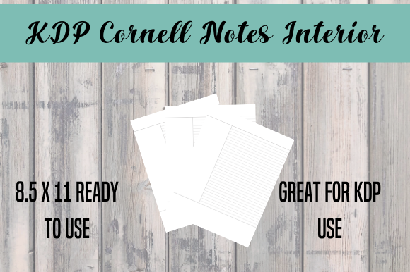 Download Free Cornell Notes Interior Print Ready Graphic By Endlessgraphical for Cricut Explore, Silhouette and other cutting machines.
