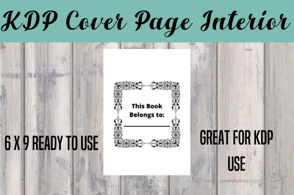 Print on Demand: Cover Page Interior - KDP Ready Graphic KDP Interiors By EndlessGraphical