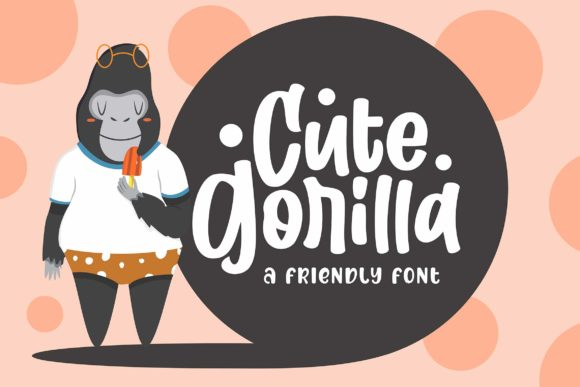 Print on Demand: Cute Gorilla Display Font By Subectype