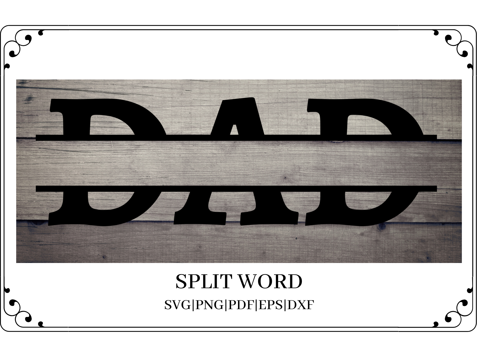 Download Free Dad Split Word Cut File Graphic By Mockup Venue Creative Fabrica for Cricut Explore, Silhouette and other cutting machines.