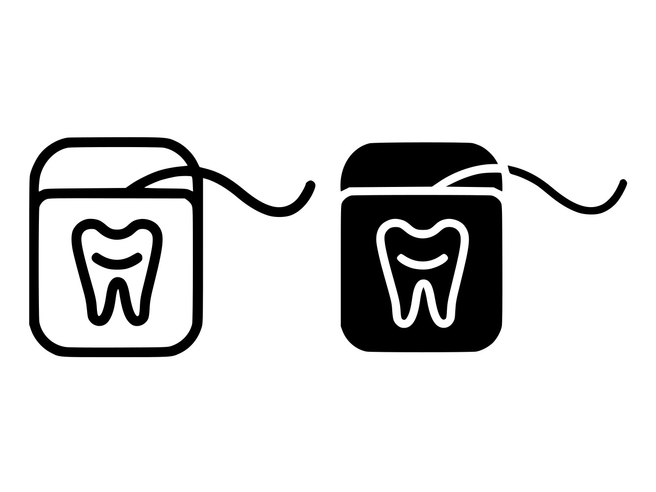 Download Free Dental Floss Line And Glyph Icon Graphic By Anrasoft Creative for Cricut Explore, Silhouette and other cutting machines.