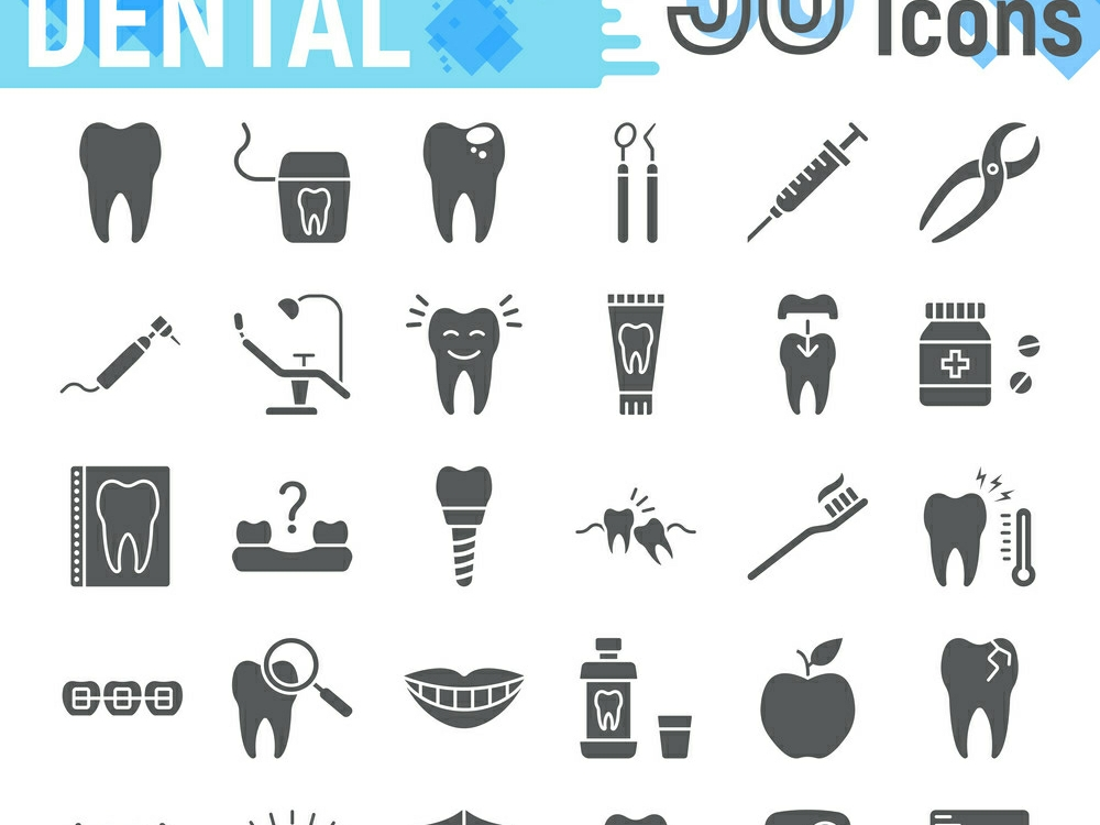 Download Free Dental Glyph Icon Graphic By Anrasoft Creative Fabrica for Cricut Explore, Silhouette and other cutting machines.