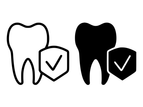 Download Free Dental Insurance Line And Glyph Icon Graphic By Anrasoft for Cricut Explore, Silhouette and other cutting machines.