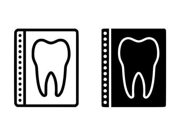 Download Free Dental X Ray Line And Glyph Icon Graphic By Anrasoft Creative for Cricut Explore, Silhouette and other cutting machines.
