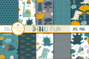 Print on Demand: Dino Fun Paper Graphic Patterns By poppymoondesign