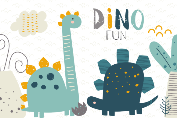 Print on Demand: Dino Fun Clipart Graphic Illustrations By poppymoondesign