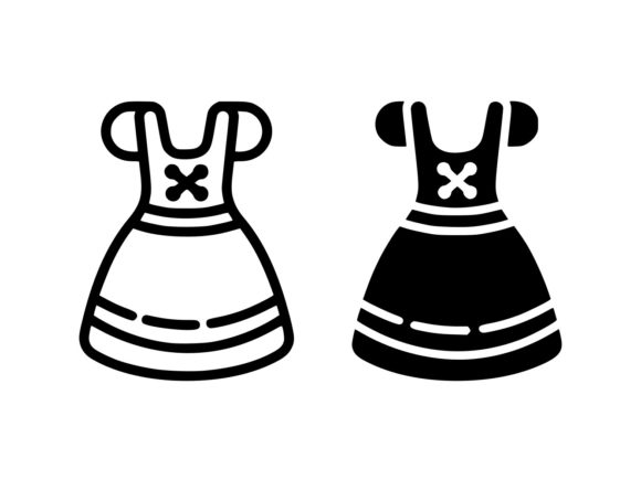Download Free Dirndl Line And Glyph Icon Graphic By Anrasoft Creative Fabrica for Cricut Explore, Silhouette and other cutting machines.