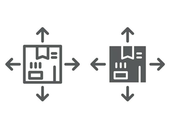 Download Free Distribution Line And Glyph Icon Graphic By Anrasoft Creative for Cricut Explore, Silhouette and other cutting machines.