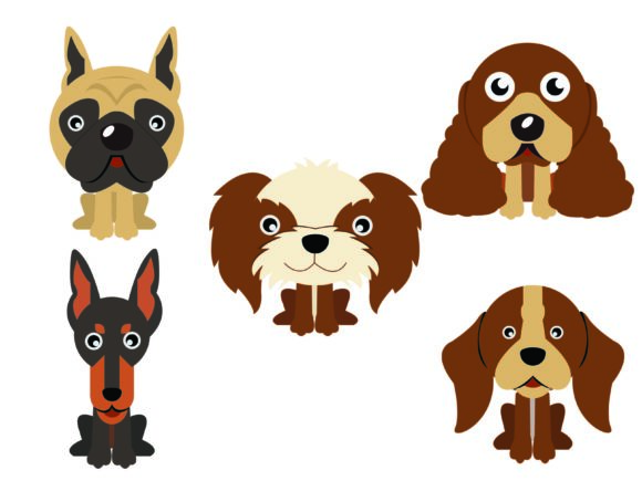 Download Free Dog Flat Icon Design Vector Bundle Graphic By 1riaspengantin SVG Cut Files