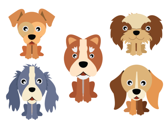 Download Free Dog Flat Icon Vector Bundle Graphic By 1riaspengantin Creative for Cricut Explore, Silhouette and other cutting machines.