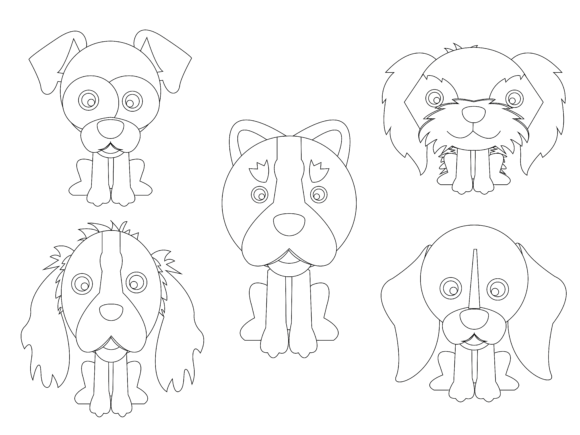 Download Free Dog Vector 5 Icon Set Flat Design Bundle Graphic By for Cricut Explore, Silhouette and other cutting machines.