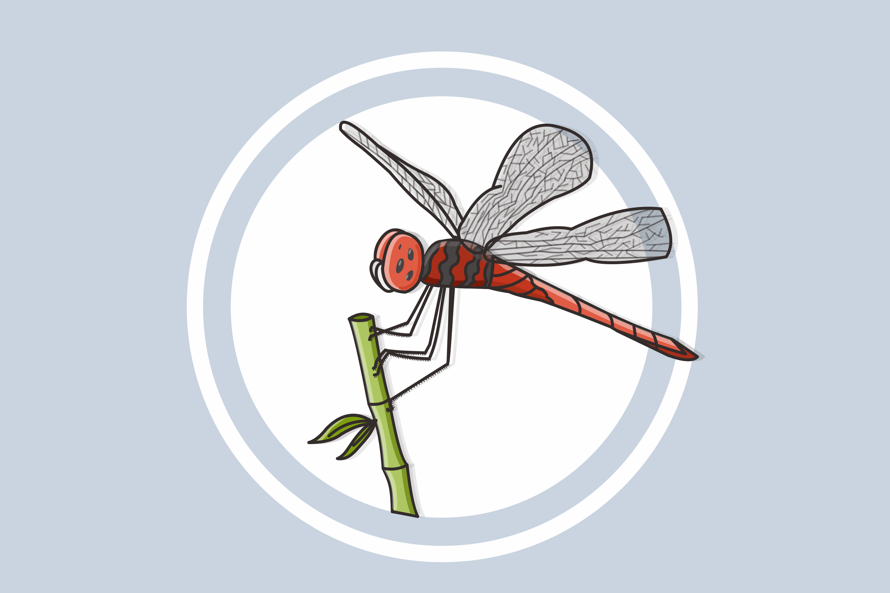 Download Free Dragonfly Vector Illustration Graphic By Nuraisyahamalia1729 for Cricut Explore, Silhouette and other cutting machines.