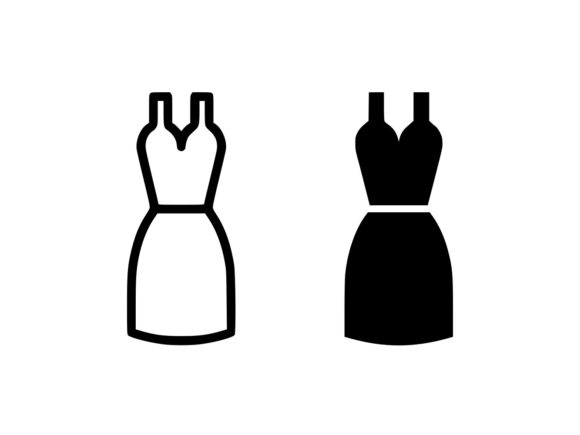 Download Free Dress Line And Glyph Icon Graphic By Anrasoft Creative Fabrica for Cricut Explore, Silhouette and other cutting machines.
