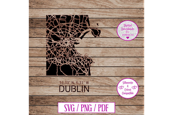 Download Dublin Road Map Decal