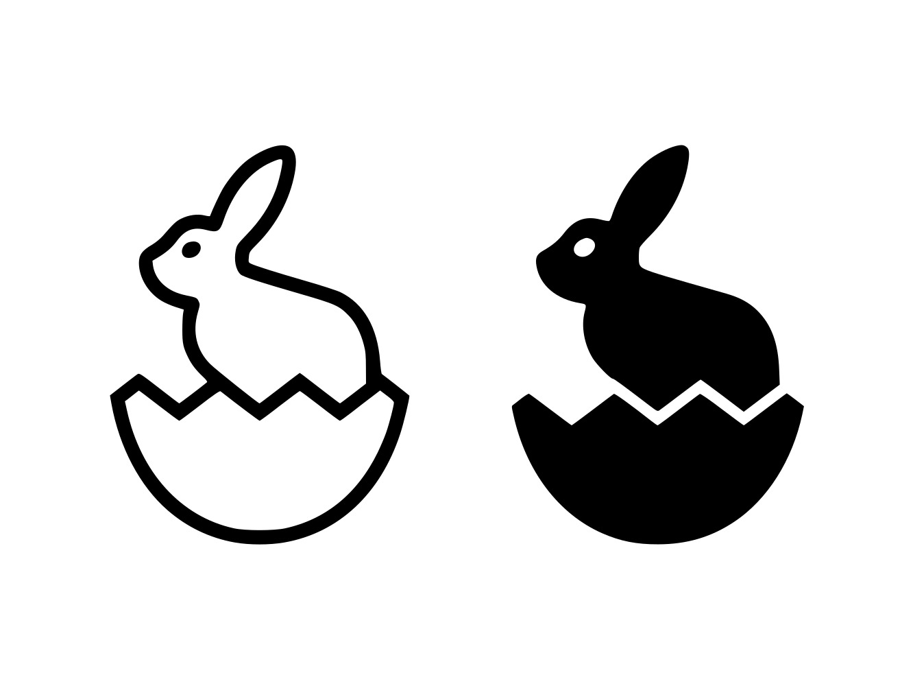 Download Free Easter Bunny Line And Glyph Graphic By Anrasoft Creative Fabrica for Cricut Explore, Silhouette and other cutting machines.