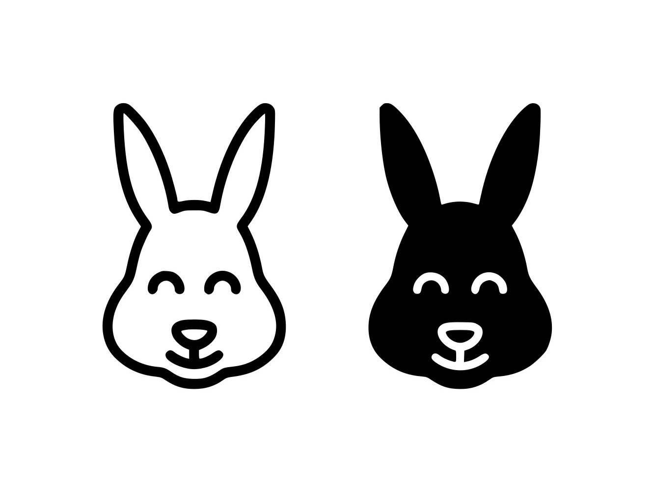 Download Free Easter Bunny Line And Glyph Icon Graphic By Anrasoft Creative Fabrica for Cricut Explore, Silhouette and other cutting machines.