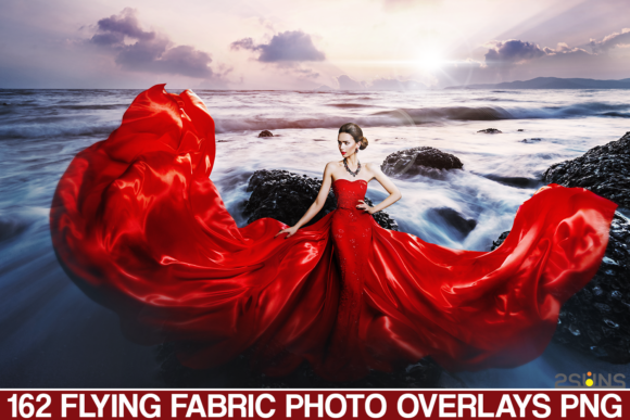 Flying Fabric Overlays Photoshop Overlay Graphic Actions & Presets By 2SUNS