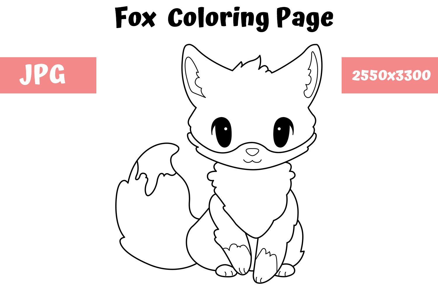 Top 25 Free Printable Fox Coloring Pages Online   1000x1500