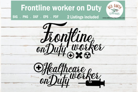 Frontline Healthcare Worker on Duty   Graphic Crafts By redearth and gumtrees