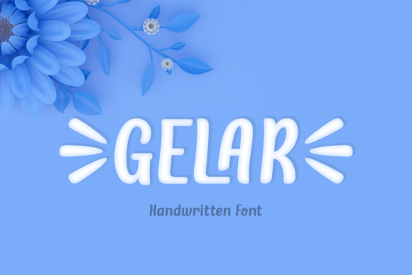 Print on Demand: Gelar Script & Handwritten Font By Jasm (7NTypes)