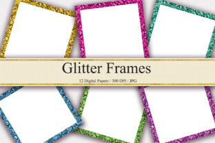 Print on Demand: Glitter Frames Digital Papers Graphic Backgrounds By PinkPearly