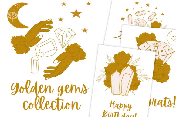 Print on Demand: Golden Gems Collection Graphic Illustrations By Andreea Eremia Design