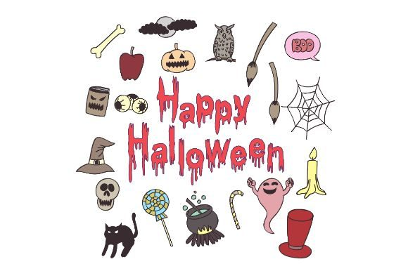 Download Free Happy Halloween Doodle Alphabets Drawi Graphic By Firdausm601 for Cricut Explore, Silhouette and other cutting machines.