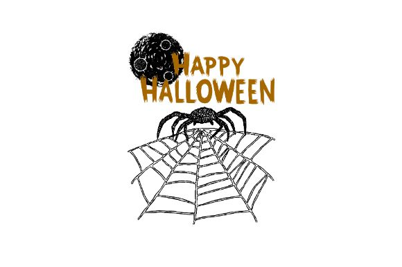 Download Free Happy Halloween Spider Hand Drawn Vector Graphic By Firdausm601 for Cricut Explore, Silhouette and other cutting machines.