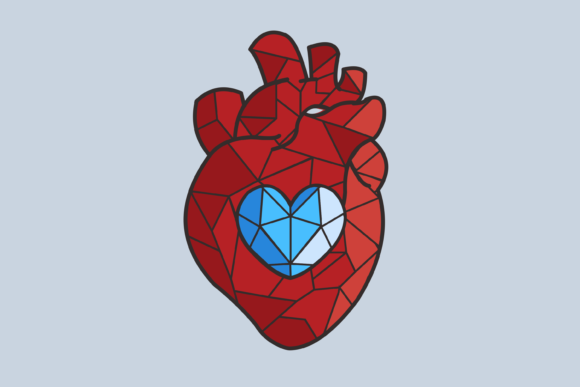 Print on Demand: Heart Vector Illustration Graphic Objects By nuraisyahamalia1729
