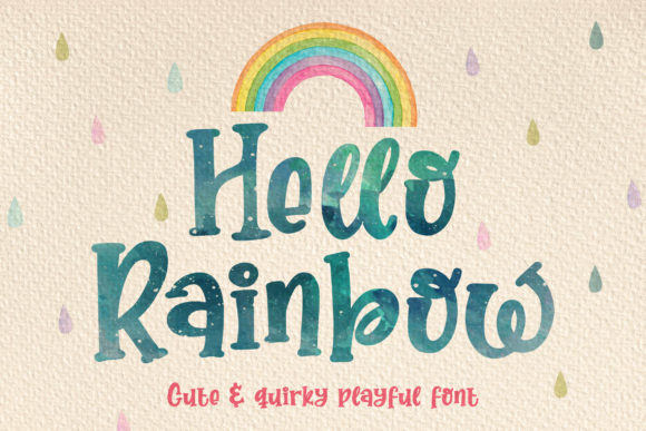 Print on Demand: Hello Rainbow Display Font By Orenari