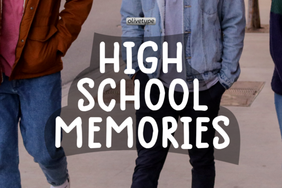 Print on Demand: High School Memories Display Font By olivetype