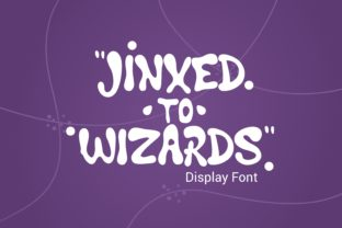 Print on Demand: Jinxed to Wizard Display Font By adevio27