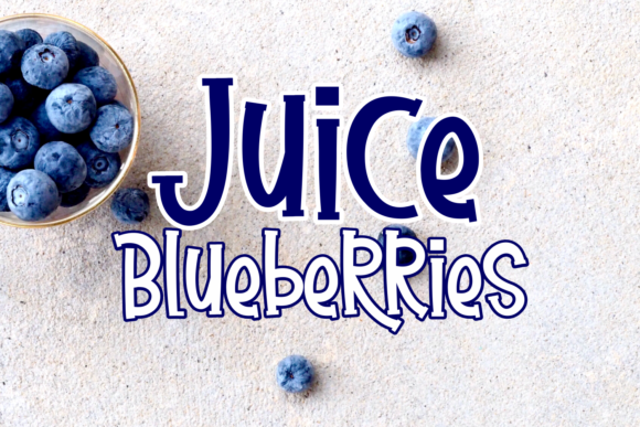 Print on Demand: Juice Blueberries Display Font By Will Letter