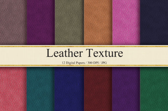 Leather Texture Digital Papers Graphic Backgrounds By PinkPearly