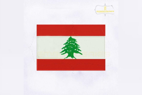 Lebanon Flag Asia Embroidery Design By RoyalEmbroideries