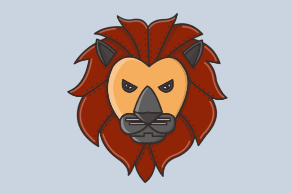 Download Free Lion Vector Illustration Graphic By Nuraisyahamalia1729 for Cricut Explore, Silhouette and other cutting machines.