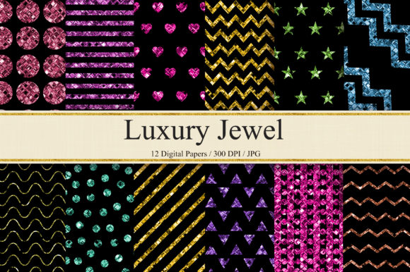 Luxury Jewel Background Digital Papers Graphic Backgrounds By PinkPearly
